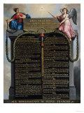 Verklaring van de Rechten van de Mens en de Burger, 1789, Franse tekst Gicléedruk