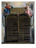 Deklarationen om rättigheter för människan och medborgaren, 1789 Gicléetryck