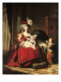 Marie-Antoinette (1755-93) et ses quatre enfants, 1787 Reproduction procédé giclée par Elisabeth Louise Vigee-LeBrun