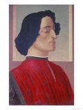 Portrait of Giuliano De' Medici (1478-1534) circa 1480 Reproduction procédé giclée par Sandro Botticelli