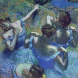 Blue Dancers, circa 1899 Reproduction procédé giclée par Edgar Degas