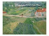 Landscape at Auvers after the Rain, c.1890 Reproduction procédé giclée par Vincent van Gogh