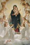 Jomfruen med engle, 1900 Giclée-tryk af William Adolphe Bouguereau