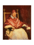 Portrait of Pope Innocent X (1574-1655), 1650 Reproduction procédé giclée par Diego Velazquez