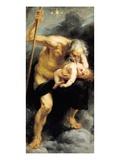 Saturn Devouring His Son, 1636 Giclée-tryk af Peter Paul Rubens