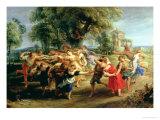 A Peasant Dance, 1636-40 Giclee Print by Peter Paul Rubens