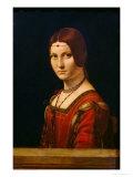 Portrait of a Lady from the Court of Milan, circa 1490-95 Reproduction procédé giclée par  Leonardo da Vinci