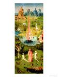 The Garden of Earthly Delights: the Garden of Eden, Left Wing of Triptych, circa 1500 Giclée-Druck von Hieronymus Bosch