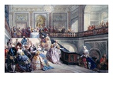Fete at the Chateau De Versailles on the Occasion of the Marriage of the Dauphin in 1745 Giclee Print by Eugene-Louis Lami