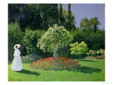 Woman in a Garden, 1867 Giclee Print by Claude Monet