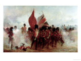 Scots Guards Saving the Colours at Alma, 1854, 1899 Stampa giclée di Lady Butler