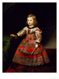 The Infanta Maria Margarita (1651-73) of Austria as a Child Reproduction procédé giclée par Diego Velazquez