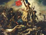 De Vrijheid leidt het volk, 28 juli 1830 Gicléedruk van Eugene Delacroix
