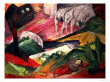 The Dream Giclée-tryk af Franz Marc