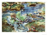Turkish Woman by a Stream Giclee Print by John Singer Sargent