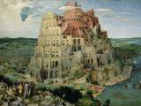 Babeltårnet, ca.1563 Giclée-tryk af Pieter Bruegel the Elder