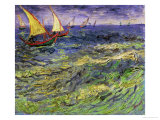 Seascape at Saintes-Maries, c.1888 Giclee-trykk av Vincent van Gogh