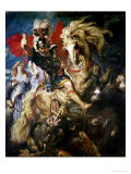 St. George and the Dragon, circa 1606 Giclée-tryk af Peter Paul Rubens