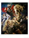 St. George and the Dragon, circa 1606 Giclée-Premiumdruck von Peter Paul Rubens