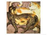 Two Cats Giclée-vedos tekijänä Franz Marc