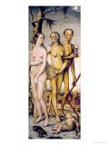The Three Ages of Man and Death Giclée-Druck von Hans Baldung Grien