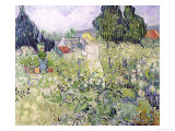 Mademoiselle Gachet in Her Garden at Auvers-Sur-Oise, c.1890 Giclee Print by Vincent van Gogh