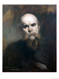 Portrait of Paul Verlaine (1844-96) 1890 Reproduction procédé giclée par Eugene Carriere