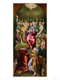 The Pentecost, circa 1604-14 Giclée-tryk af  El Greco