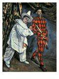 Pierrot and Harlequin (Mardi Gras), 1888 Reproduction procédé giclée par Paul Cézanne