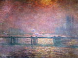 The Thames at Charing Cross, 1903 Giclée-tryk af Claude Monet