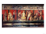 The Hall of Mysteries, Pompeii, 79 AD Giclée-tryk