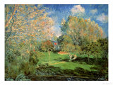 The Garden of Hoschede Family, 1881 Giclee Print by Alfred Sisley