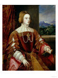 Portrait of the Empress Isabella of Portugal, 1548 Giclée-tryk af  Titian (Tiziano Vecelli)