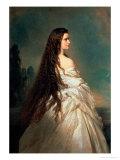 Elizabeth of Bavaria (1837-98), Wife of Emperor Franz Joseph I of Austria (1830-1916) Reproduction procédé giclée par Franz Xaver Winterhalter