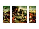 Triptych: the Temptation of St. Anthony Giclée-tryk af Hieronymus Bosch