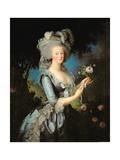 Marie Antoinette (1755-93) with a Rose, 1783 Impressão giclée por Elisabeth Louise Vigee-LeBrun