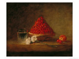Basket with Wild Strawberries, circa 1761 Giclee Print by Jean-Baptiste Simeon Chardin