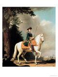 Equestrian Portrait of Catherine II (1729-96) the Great of Russia Giclée-Druck von Vigilius Erichsen