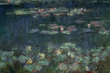 Waterlilies: Green Reflections, 1914-18 (Right Section) Giclée-tryk af Claude Monet