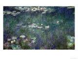 Waterlilies: Green Reflections, 1914-18 (Central Section) Reproduction procédé giclée par Claude Monet