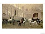 Morning Exercise in the Hofreitschule, Josephsplatz, 1890 Giclée-Druck von Julius von Blaas