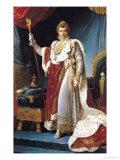 Napoleon I in His Coronation Robe, circa 1804 Reproduction procédé giclée par Francois Gerard