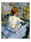 Woman at Her Toilet, 1896 Giclee Print by Henri de Toulouse-Lautrec
