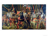 The Battle of San Romano in 1432, circa 1456 Giclée-tryk af Paolo Uccello
