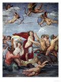 The Triumph of Galatea, 1512-14 Reproduction procédé giclée par  Raphael