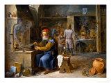 The Alchemist Giclée-Druck von David Teniers the Younger