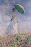 Woman with a Parasol Turned to the Right, 1886 Reproduction procédé giclée par Claude Monet