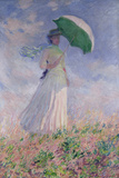 Woman with a Parasol Turned to the Right, 1886 Giclée-tryk af Claude Monet