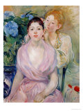 The Hortensia, or the Two Sisters, 1894 Giclee Print by Berthe Morisot