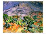 Mont Saint Victoire, 1900 Reproduction procédé giclée par Paul Cézanne